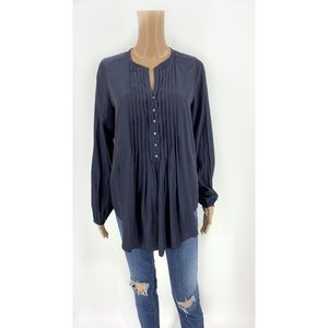 Calypso St Barth Tunic Top Button Front Blouse XS